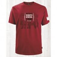 1919 Unisex Short Sleeve Red T-Shirt - MGEU