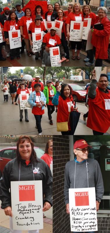 MGEU home care rally image