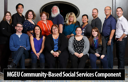 community-based social services component