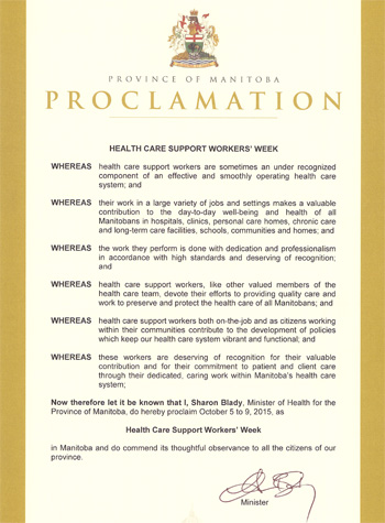HCSW Proclamation Image