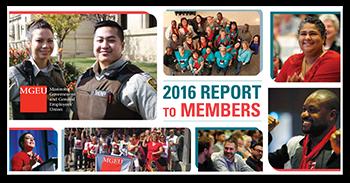2016 MGEU annual report to members