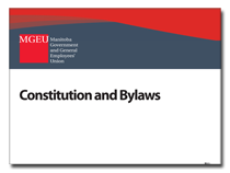 GEU Constitution and Bylaws cover