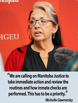 Michelle Gawronsky speaks to media