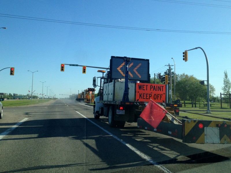 construction vehicle on roadway