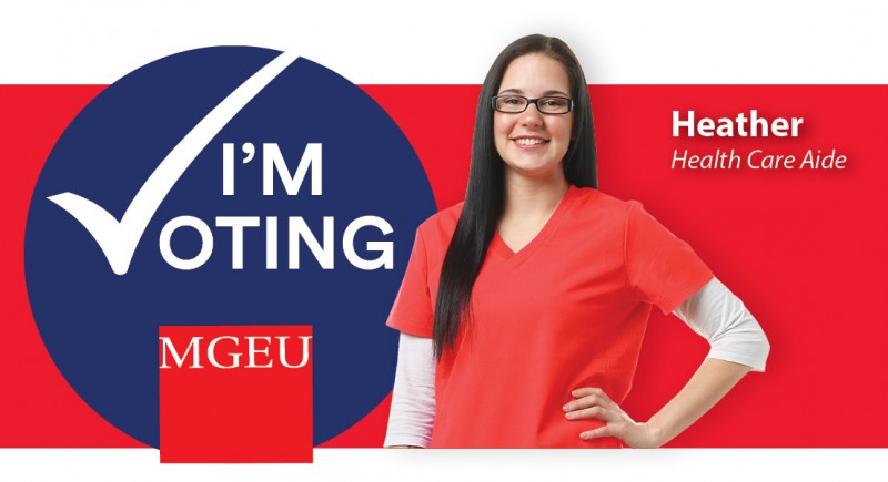 I'm Voting MGEU - Heather, health care aide