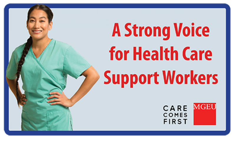 MGEU A Strong Voice for Health Care Support Workers