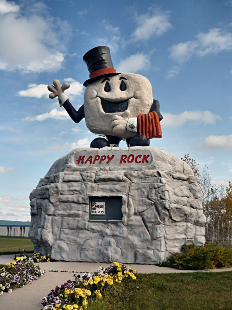Happy Rock in Gladstone Manitoba