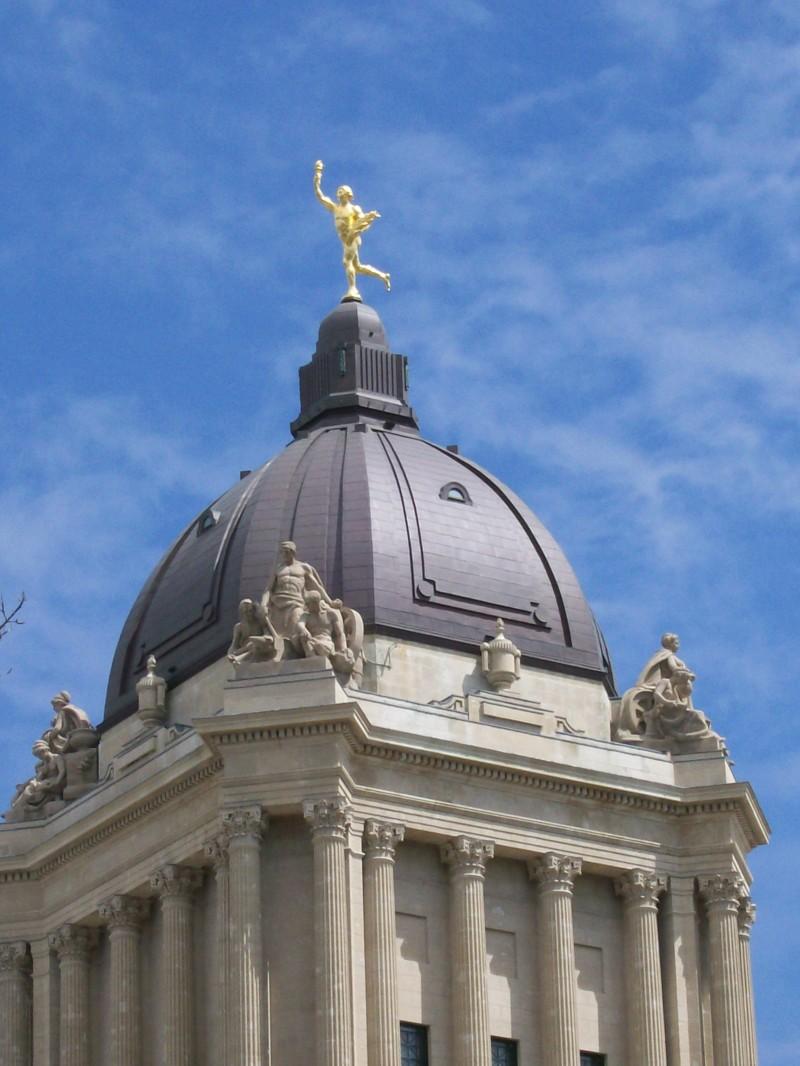 Manitoba legislative building dome