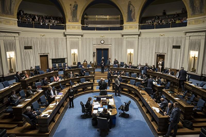 inside Manitoba legislative chamber