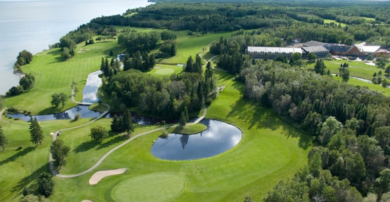 ariel view of Hecla golf course