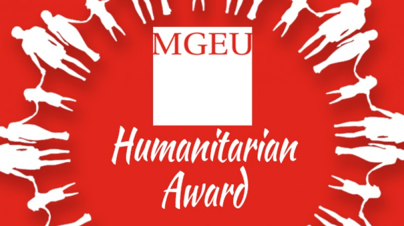 Humanitarian Award with MGEU logo