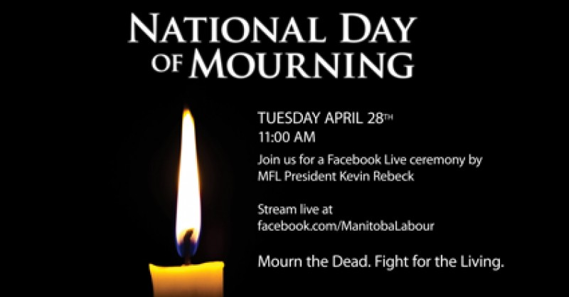 Day of mourning event poster