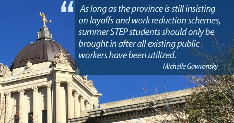 quote from Michelle Gawronsky over legislature photo