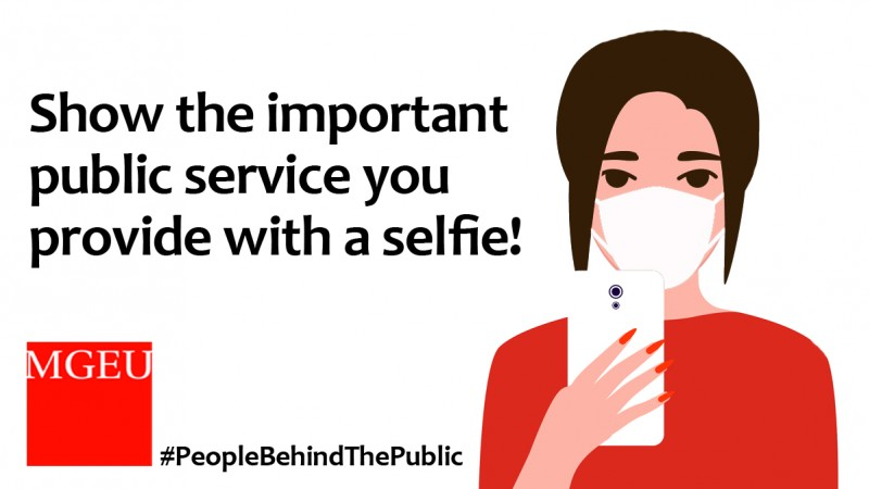 Show the important public service you provide with a selfie