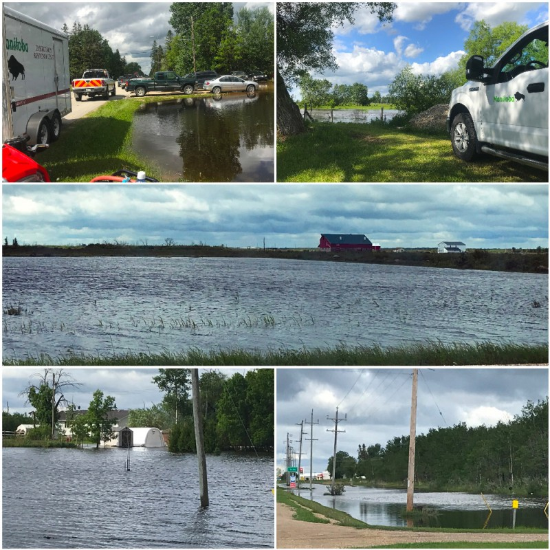 muliple images of flooding in the region