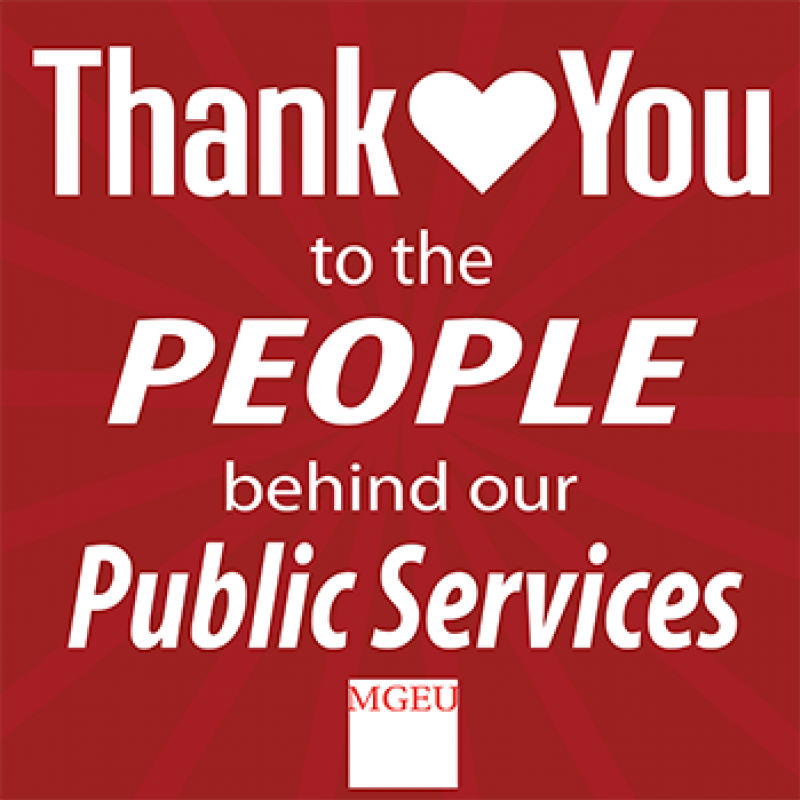 Thank You to the People behind our Public Services