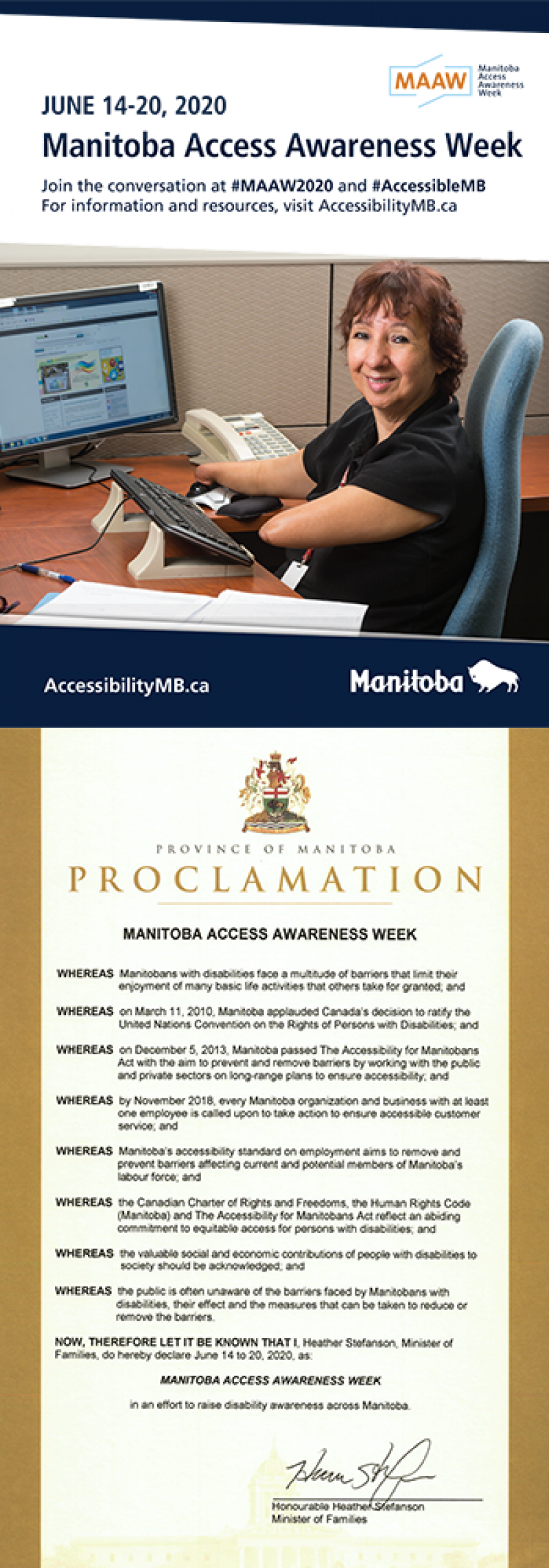MAAW Poster and Proclamation