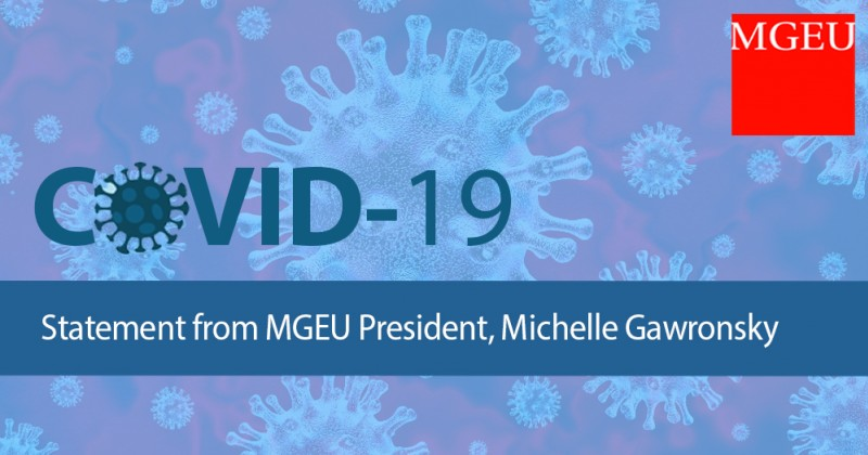 COVID-19: Statement from Michelle Gawronsky