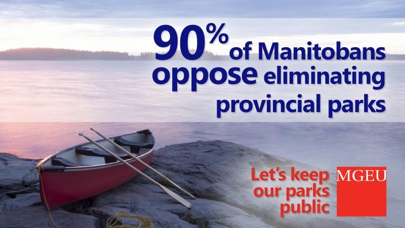 90% of Manitobans oppose eliminating provincial parks