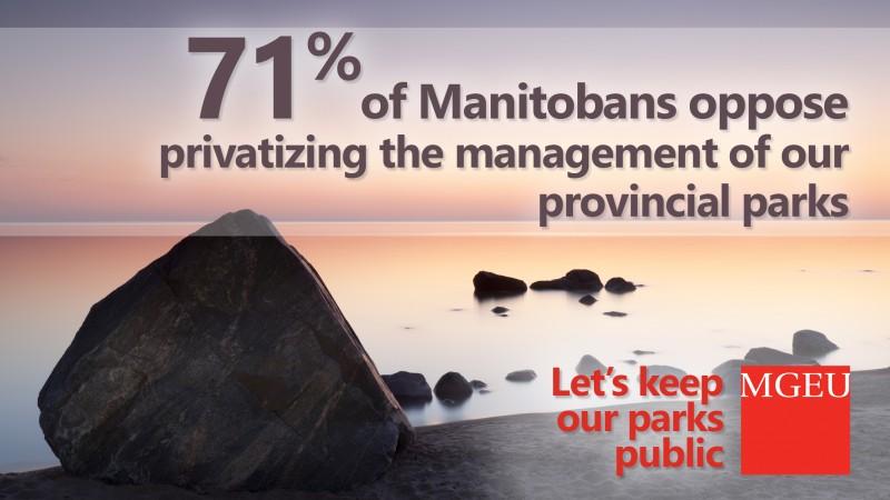 71% of Manitobans oppose parks privatization
